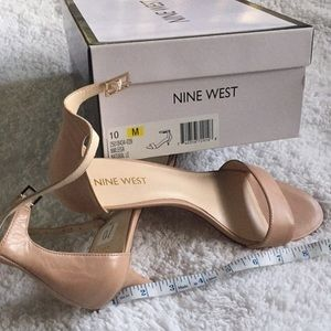 Brand new nude Nine West sandals size 10